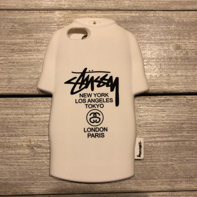 STUSSY(ステューシー)のステューシー iPhone 6 6s 7 ケース Tシャツ型 シリコン ホワイト スマホ/家電/カメラのスマホアクセサリー(iPhoneケース)の商品写真