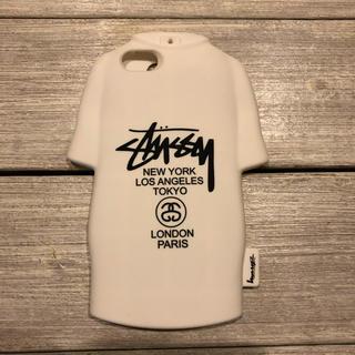 STUSSY - ステューシー iPhone 6 6s 7 ケース Tシャツ型 シリコン ホワイト