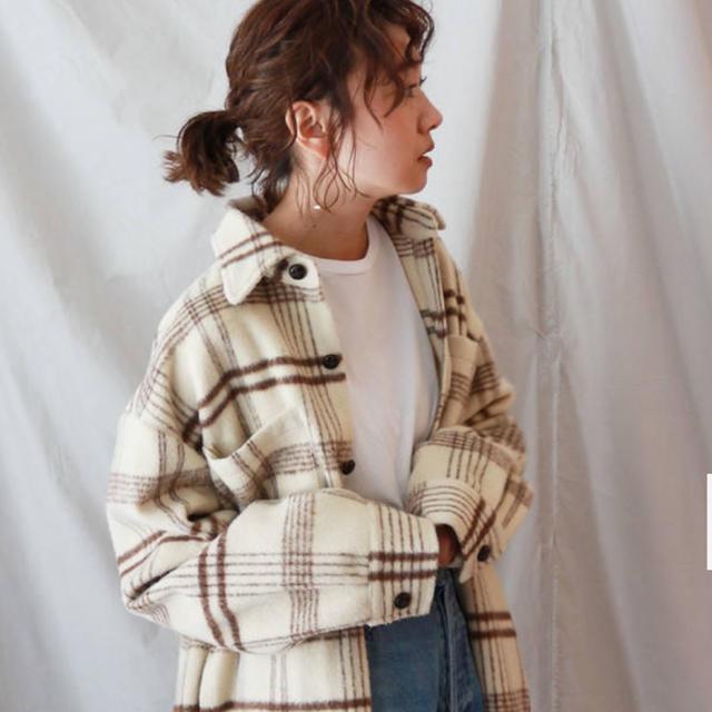 Ungrid(アングリッド)のungrid チェックオーバーコート レディースのジャケット/アウター(チェスターコート)の商品写真