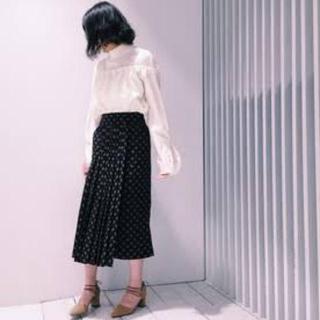 ステュディオス(STUDIOUS)のCLANE フロントプリーツラップスカート(ロングスカート)