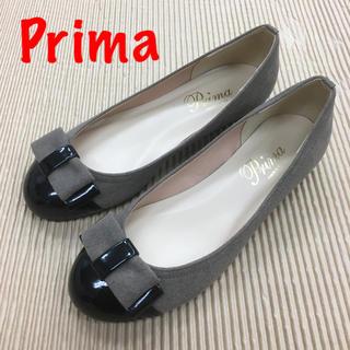 Prima プリマ ローヒールリボンモチーフパンプス 22.5cm(ハイヒール/パンプス)