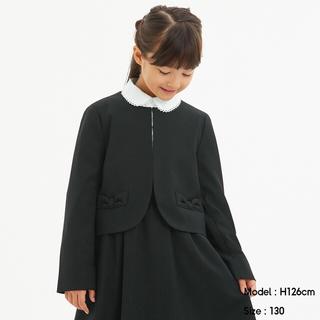 ジーユー(GU)の新品 女の子 入学式 フォーマル スーツ ブラック 120(ドレス/フォーマル)