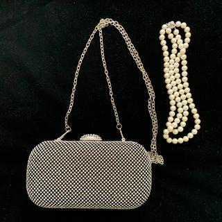 ESTNATION - パールネックレス&2wayバッグセット美品