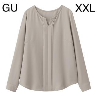 GU - GU フロントタックブラウス GRAY XXL