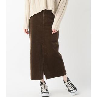 プラージュ(Plage)の2018aw コーデュロイスカート(ロングスカート)