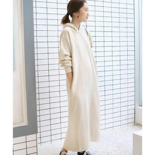 IENA SLOBE - SLOBE IENA 30/10裏毛フード ロング パーカー ワンピース 美品