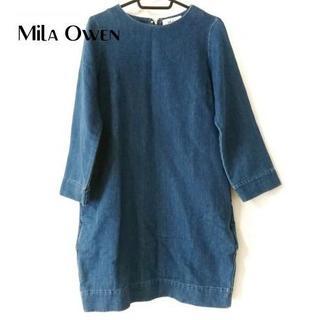ミラオーウェン(Mila Owen)の ミラオーウェン ワンピース サイズ0 XS レディース美品 ネイビー(ひざ丈ワンピース)