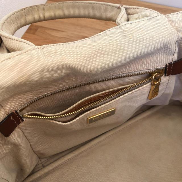PRADA(プラダ)のプラダ ベージュ カナパトートバッグ レディースのバッグ(トートバッグ)の商品写真