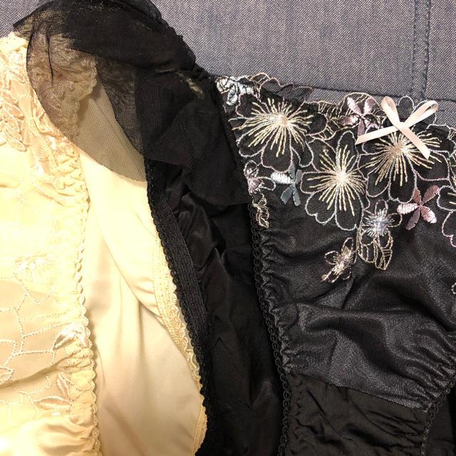 Wacoal(ワコール)のショーツ ホワイト ブラック フリフリ お花柄 Lサイズ set レディースの下着/アンダーウェア(ショーツ)の商品写真