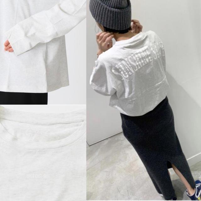 L'Appartement DEUXIEME CLASSE(アパルトモンドゥーズィエムクラス)のAP STUDIO SKIN SUNSHINE STATEロングスリーブ 新品 レディースのトップス(Tシャツ(長袖/七分))の商品写真