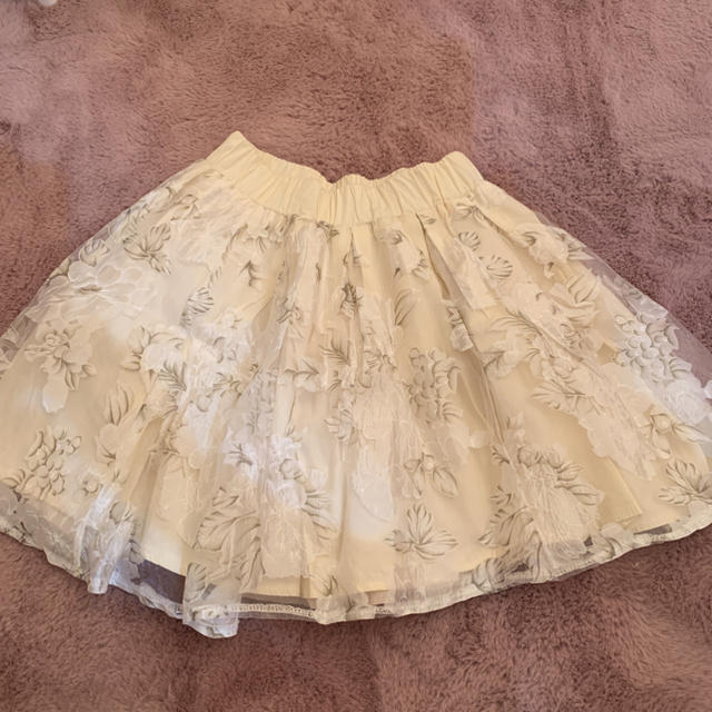 evelyn(エブリン)のオーガンジースカート 白 レディースのスカート(ミニスカート)の商品写真