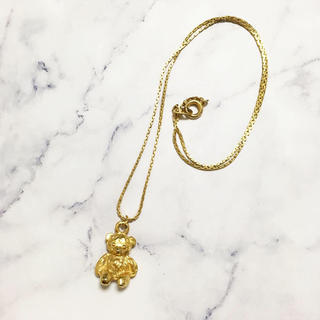 ロキエ(Lochie)のRetro * plumply teddy bear necklace(ネックレス)