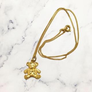 ロキエ(Lochie)のRetro * ribbon teddy bear necklace(ネックレス)