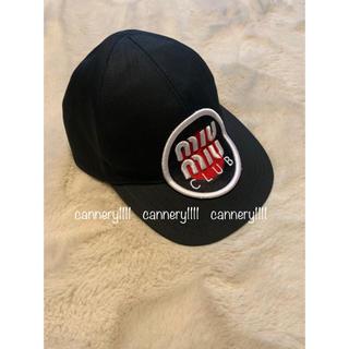 miumiu - miumiu ♡  CLUB DENIM ロゴ 刺繍 キャップ 帽子