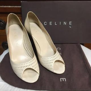 celine - セリーヌ CELINE オープントゥ パンプス アイボリー 24cm 38
