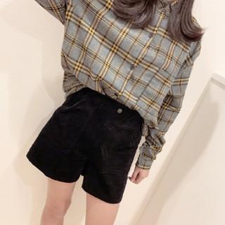 ビッグシャツ グレー×イエロー(シャツ/ブラウス(長袖/七分))