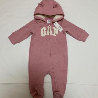 babyGAP - 新品 ベビーギャップ  裏起毛 くま耳 カバーオール 70 足つき ロンパース