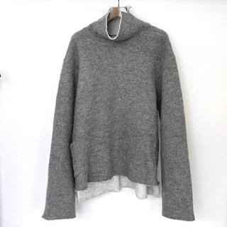 サンシー(SUNSEA)のSUNSEA  W-Face Wool Turtleneck Pull Over(ニット/セーター)