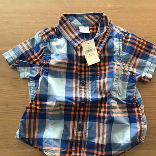 ギャップ(GAP)の新品GAPチェックシャツ!赤ちゃん用(シャツ/カットソー)