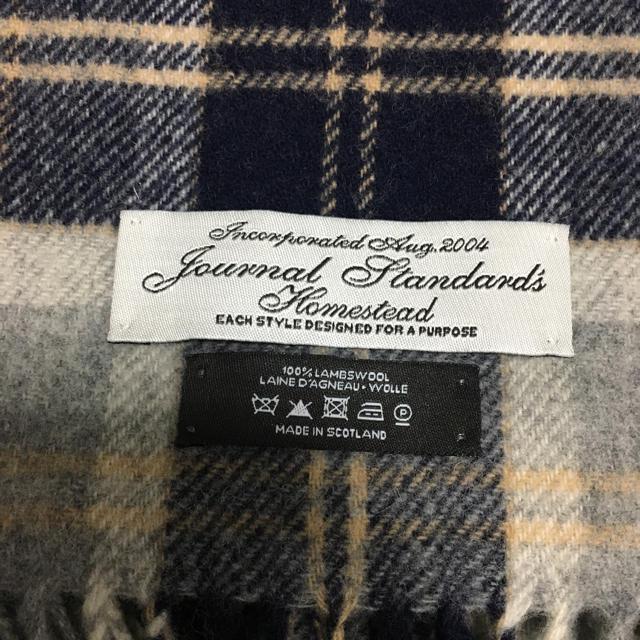 JOURNAL STANDARD(ジャーナルスタンダード)の【期間限定価格】ジャーナルスタンダードのマフラー メンズのファッション小物(マフラー)の商品写真