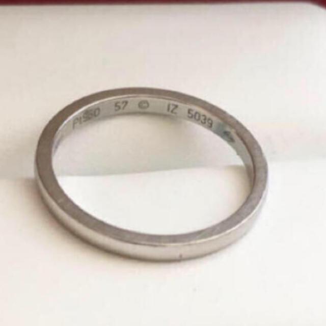 Cartier(カルティエ)のkeri様専用♡正規品 cartier リング pt950 57 17号 メンズのアクセサリー(リング(指輪))の商品写真