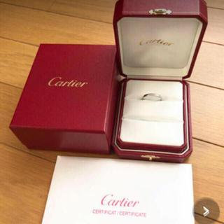Cartier - 正規品 cartier リング pt950 57 17号