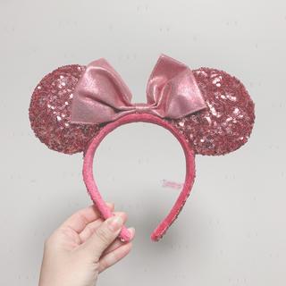 Disney - ディズニー カチューシャ スパンコール ピンク