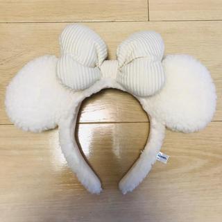 Disney - ミニー 白ボアカチューシャ
