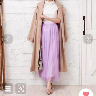 DOULA DOULAチュールプリーツロングスカート(ロングスカート)