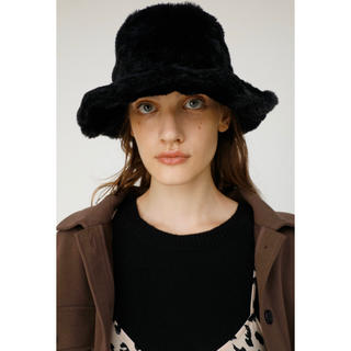 moussy - moussy FUR BUCKET HAT ファーバケットハット