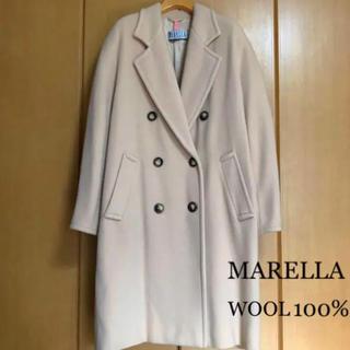 大きいサイズ LL位 MARELLA マレーラ ウールダブルチェスターコート (ロングコート)