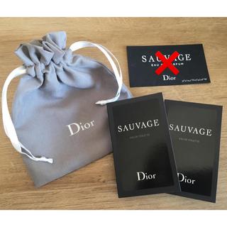 Christian Dior - 大人気 メンズ 香水 ディオール ソヴァージュ ミニスプレー 2個 巾着 セット