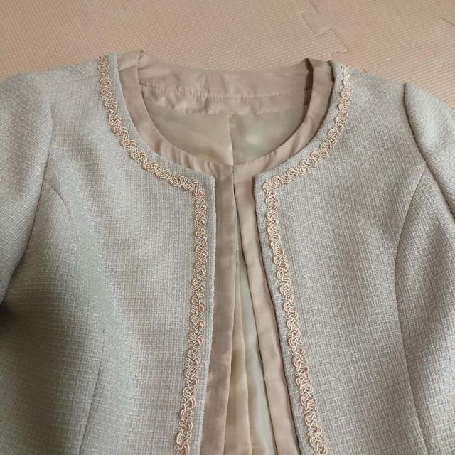 【お値下げしました】ママスーツ レディースのフォーマル/ドレス(スーツ)の商品写真