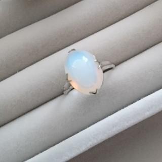 17 昭和レトロ silverG 千本透かし オパール?リング 指輪 天然石(リング(指輪))