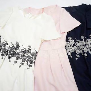 レッセパッセ(LAISSE PASSE)の新品レッセパッセ刺繍ワンピース(ミニワンピース)