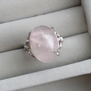 32 昭和レトロGSILVER ローズクォーツリング 指輪 透かし(リング(指輪))