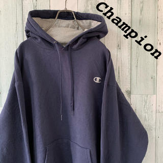 Champion - 【レア】90s 美品 古着チャンピオン ロゴ刺しゅう プルオーバー パーカー