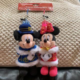 Disney - ディズニー クリスマスウィッシュ ぬいぐるみストラップ ミッキー ミニー