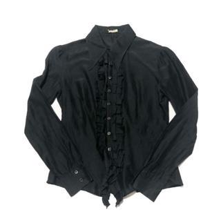 ミュウミュウ(miumiu)のmiu miu silk frill blouse(シャツ/ブラウス(長袖/七分))
