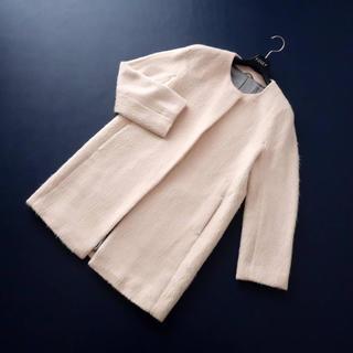 ANAYI - ■エッセンスオブアナイ■ 38 ピーチピンク アルパカシャギー コート