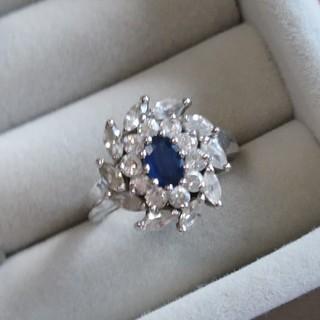 50 925 サファイア ジルコニア リング シルバー 指輪(リング(指輪))