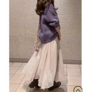 snidel - SNIDEL 2019 完売 ファーライク ショースキン ニット プルオーバー