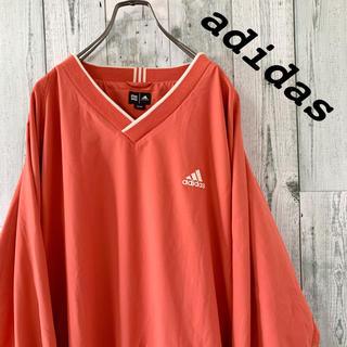 adidas - 【人気】美品 アディダス ワンポイント 刺しゅう ナイロン プルオーバージャージ