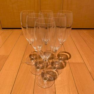 ドンペリニヨン(Dom Pérignon)の【新品未使用】ドンペリ 最高級 シャンパングラス 6脚セット【非売品】(シャンパン/スパークリングワイン)