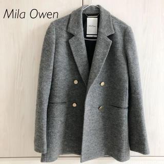 Mila Owen - ミラオーウェン 金ボタン ダブルブレザー グレー