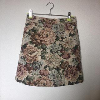 ローリーズファーム ゴブラン柄 花柄 スカート