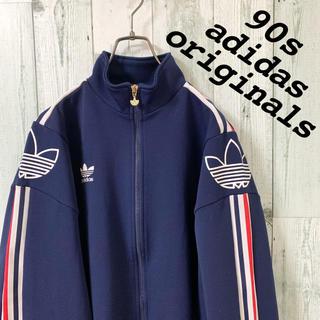 adidas - 【激レア】美品 90s アディダス  ワンポイント刺繍 デサント製 ジャージ