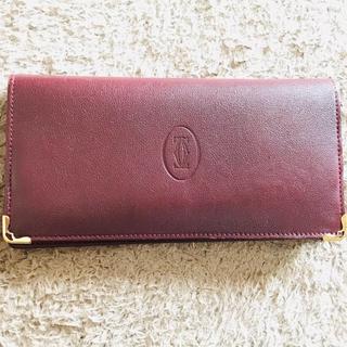 Cartier - Cartier カルティエ 長財布 ボルドー 【値下げ】