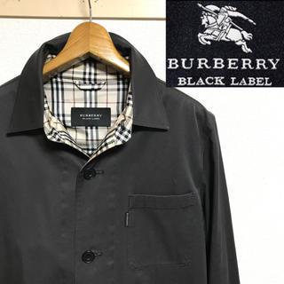 BURBERRY BLACK LABEL - 希少!BURBERRY バーバリーブラックレーベルノバチェック ショートコート