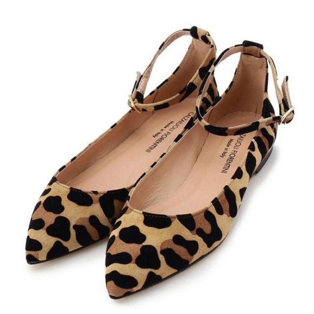 DEUXIEME CLASSE(ドゥーズィエムクラス)の新品未使用CALZAIUOLI FIORENTINI レオパードシューズ36 レディースの靴/シューズ(バレエシューズ)の商品写真